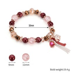 Women stretch rings online shopping - SOUARTS Bohemian Chain Tassel Pendant Bangle Bracelet Crystal Glass Charm Stretch Bead Bracelets For Women Boho Jewelry