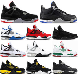 $enCountryForm.capitalKeyWord Australia - With socks High Quality 4 4s Basketball Shoes BRED ROYALTY tattoo BLACK CAT ALTERNAT MOTORSPORT fire red Men Sports Sneakers Shoes 40-47