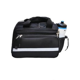 Bicycle Rear Carriers Australia - Convertible Bicycle Luggage Bag Road Mountain Bike Rear Seat Rack Cargo Carrier Container Bag Waterproof With Side #324123