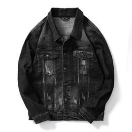 Korean Slim Clothes Male Australia - Spring Denim Jacket Mens Windbreaker Black Biker Motorcycle Jackets Autumn Coats Korean Tops Slim Fit Male Clothing High Quality