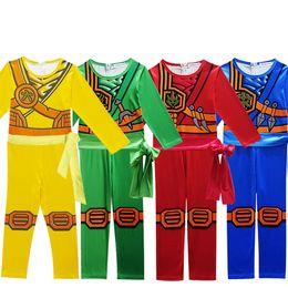 Red Indian Costumes Australia - Cosplay Siamese Lego Phantom Ninja NINJAGO Boy Kids Children Costume Christmas Halloween Party New Year Plugsuit Jumpsuit