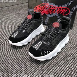 Discount spring plastic - Chain Reaction Casual Designer Sneakers Sport Fashion Casual Shoes Trainer Lightweight Link-Embossed Sole Size 36-45