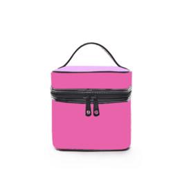 Hot Pink Makeup UK - 2019 Fashion Women Brand Letters Printed Cosmetic Bag Makeup Bags Double Zipper Handbag Portable Storage Bag Hot Selling 5 Colors 180104A04