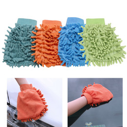 Chenille Towels Wholesale Australia - Car Cleaning Drying Gloves Ultrafine Fiber Chenille Microfiber Window Washing Tool Home Cleaning Car Wash Glove Auto Accessories