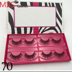 Plastic Handmade Pack Australia - Custom luxury round eyelash packing box for empty eyelash packaging box custom