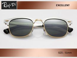 Discount gradient rimless sunglasses - new hot sale aluminum Retro Club 51mm master Sunglasses brand designer vintage Women Men rd3507 Coating pink gradient ga