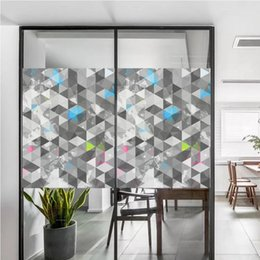 cling window stickers UK - Static Cling Stained Window Film Privacy Frosted Glass Sticker, 120*58cm, 8 Patterns Available