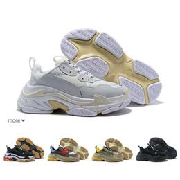 $enCountryForm.capitalKeyWord NZ - Fashion Paris 17FW Triple-S Sneaker Triple S Casual Luxury Dad Shoes for Men's Women Beige Sports Tennis Designer Running Shoe 36-45