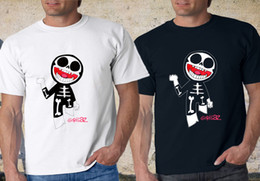 $enCountryForm.capitalKeyWord Australia - Gorillaz SKELETON Girls Junior Black & White T Shirt