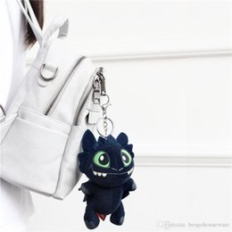 train dragon toothless plush toy Australia - Plush Pendants Toy Toothless Night Fury Plush Doll Large 6.7inch How To Train Your Dragon Toys Women Bag Pendant Keyring BH1163 TQQ