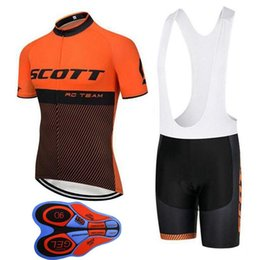 Yellow Scott Bicycles Australia - 2018 Summer Scott Cycling Jerseys Suit Breathable Bicycle Shirt Bib Shorts Set Mens Quick Dry Short Sleeve Mountain Bike Clothing H1006