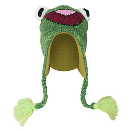 fd50e909643 Green froG cap online shopping - Fashion Adult Children Cute Cartoon Frog  Shape Knit Fleece Whip