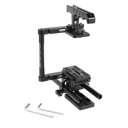 rigging kit dslr Canada - CAMVATE Half Cage Kit With Top Cheese Handle & QR Manfrotto Plate & 15mm Rod Support For DSLR Cameras Item Code: C2276