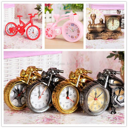 decor clocks wholesale NZ - Bicycle Motorcycles and locomotives Shape Household Table Alarm Clock Creative Retro Arabic Numeral Alarm Clock Placement Home Decor Suppli