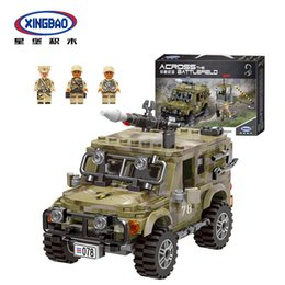 Toys Bricks Australia - 497pcs World War Military Army Arms Ryan Car Building Blocks Bricks Classic Special Forces Car Model Kids For Children Toys
