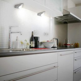 Under cabinets lighting online shopping - New Pc Modern V W Triple cornered LED Under Cabinet Light with Switch Surface Stainless Steel Kitchen Furniture Jewel