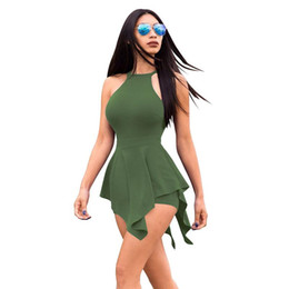 $enCountryForm.capitalKeyWord UK - New fashion Women Summer Solid Jumpsuit Sexy Suspenders Chest Bow Tie Sling Short Rompers One Piece Outfits Playsuit Overalls Clothing
