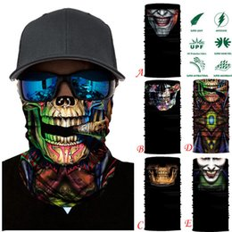 Ghosts Face Mask Australia - Face Mask Scarf Ski Mask Ghost Balaclava Masks Cycling Head Scarf Neck Halloween Party Face Mask Wholesale 30st02