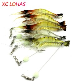 $enCountryForm.capitalKeyWord Australia - bait Night Luminous Artificial Shrimp s Soft Lure Bait with Long Stainless Steel Wire Barrel Swivel Lure Connector for Fishing