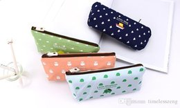 old fashion stationery Australia - School pen bag fashion dew student pencil case office stationery canvas multifunction printing pencil bag gift
