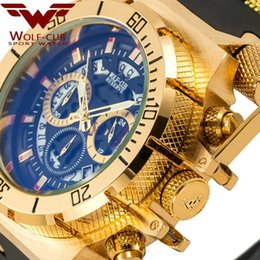 $enCountryForm.capitalKeyWord Australia - wholesale Original Creative Golden Men Quartz Wristwatches 3D Dial Design Full Steel Calendar Waterproof Big Watches