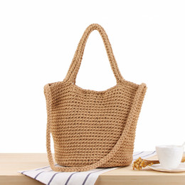 crochet handbags wholesale Australia - Hotsales She Said Instagram Style Women Fashion Shoulder Bags Straw Beach Holiday Style Chic Fresh Young Girl Lady Love Handbags Totes Bag