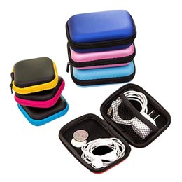$enCountryForm.capitalKeyWord Australia - Hoomall Data Line Cables Storage Box Case Container Coin Headphone Protective Box 8cm Square Earphone Wire Organizer