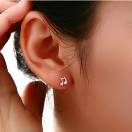 $enCountryForm.capitalKeyWord NZ - Pendientes Sale Offer Trendy Brincos Earings Fashion Cute Lovely Musical Note Plated Stud Earrings For Women Earring Jewelry
