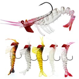 Glowing Fishing Lures Australia - Fishing Lure Multisection Shrimp Glow Segment Artificial Shrimps Lures Soft Bait Jig Head Hook 2019 New