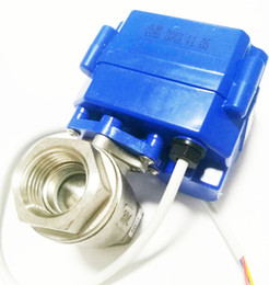 """Ac Control Valve Australia - DN15 Electric Ball Valve- 1 2"""" SS304 Ball Valve with Full Port, AC DC 9-24V and CR03 3 Wire"""