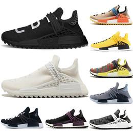 4572d7d9948b6 Designer Human Race Hu trail pharrell williams running shoes Nerd black  cream Holi trainers mens women sports runner sneaker size eur 36-47