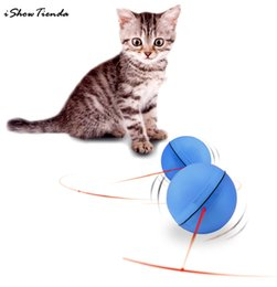 rolling pets toys Canada - New 64mm LED Laser Red Light Electronic Rolling Ball Perfect Toy Keep Your Pet Busy Cute Cat Squeak Toys