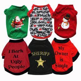 $enCountryForm.capitalKeyWord Australia - 13 Styles Pet Dog Clothes T Shirts Autumn Dog Clothing Christmas Top Shirts Vest Cotton Clothes Dog Puppy Small Cheap Pet Apparel