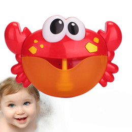 ball crab NZ - 24 Songs Baby Children Bubble Machine Crab Bath Toys Crab Bubble Machine Automatic Bubble Maker Music Bath Toy Without Battery