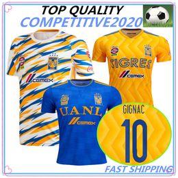 55b5b2772ea 18 19 top thailand Mexico club Tigres UANL soccer jersey Yellow 2018 2019  GIGNAC Vargas H. Ayala 3RD away blue football Shirt
