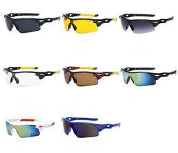 Mercury Reflective Sunglasses UK - Fashion Windproof Oversize Semi-Rimless Sunglasses Outdoor Sports Reflective Mercury Cycling SUN Glasses Anti-UV Eyeglasses Goggle A++