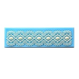 Discount fondant lace mat - Sugarcraft Cake Decoration tool Baroc Mold Lace Diamond pattern central Border Icing Silicone Mould fondant Shaped Cupca