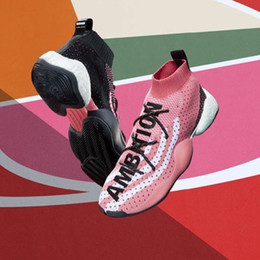 8e29af1fd Crazy BYW LVL 1 Pharrell Running Shoes Sports Designer Surface Breathable  Black Red Yellow Women Men Sports Shoes