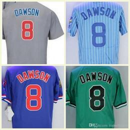 757698d74c9 Andre Baseball NZ - 1987 1969 1988 Blue Pullover Majestic Retro 8 Andre  Dawson Jersey Chicago