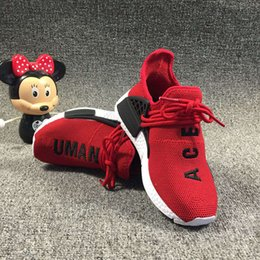 c35d2206d Kids Sports Shoes for Kid Human Race Trainers Boys Pharrell Williams Pour  Enfants Chaussures Children Sport Shoe Youth girls Sneakers