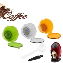 $enCountryForm.capitalKeyWord Australia - 3pcs Reusable Refillable Coffee Capsules Pods Coffee Maker Pod Cup Cafeteira Coffee Filters For Nescafe Dolce Gusto Machines SH190716