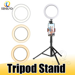 selfie tripod stand 2020 - LED Ring Light with Stretchable Tripod Stand Selfie Stick 6-inch 8-inch 10-inch Dimmable Floor Table Annular Lamp for Se