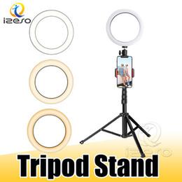 Diodo emissor de luz do anel com estiráveis tripé selfie vara 6 polegadas 8 polegadas a 10 polegadas pode ser escurecido Pavimento Tabela anular lâmpada para selfie composição izeso em Promoção