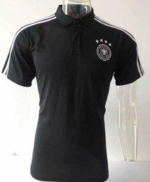 germany jersey black 2019 - 2019 Polo Germany Black Soccer Jersey Leisurewear 2019 Germany Black Soccer Polo Football Uniforms Sportswear soccer Shi