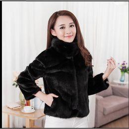 Faux Fur lining womens winter online shopping - S xl Womens Black white Short Section Winter Autumn Faux Fur Jackets Man made Female Fur Coats Fashion Clothes Tops C09