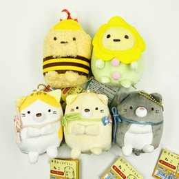 "plush toy bee wholesale NZ - Top New 5 Styles 4"" 10CM 7th Anniversary Bee Sumikko Plush Doll Anime Collectible Dolls Keychains Pendants Stuffed Gifts Soft Toys"