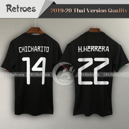Wholesale new mexico online – design New Mexico Gold Cup home Soccer Jersey CHICHARITO H LOZANO CARLOS V Men s black jersey Football shirte