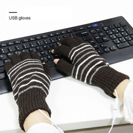 ElEctric warming glovEs online shopping - USB Heated Gloves Winter Thermal Hand Warmer Electric Heating Glove