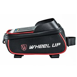 Water Resistant Gps UK - 2018 New Bicycle Bag Cycling Bike Frame Phone Bag Pannier Smartphone GPS Touch Screen Case Bicycle Accessories For 6 Inch Phone #303960