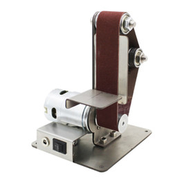 Venta al por mayor de Nuevo mini DIY lijadora de banda de lijado máquina de pulir abrasivos Cinturones Grinder Pulido L9 # 2